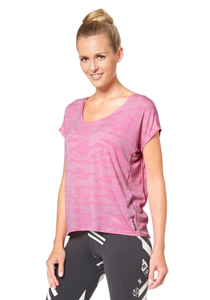 Reebok ONE SERIES BREEZE BO TEE Funktions-T-Shirt in Pink