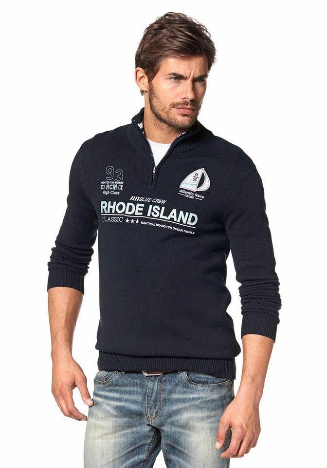 Rhode Island Troyer in marine-weiß