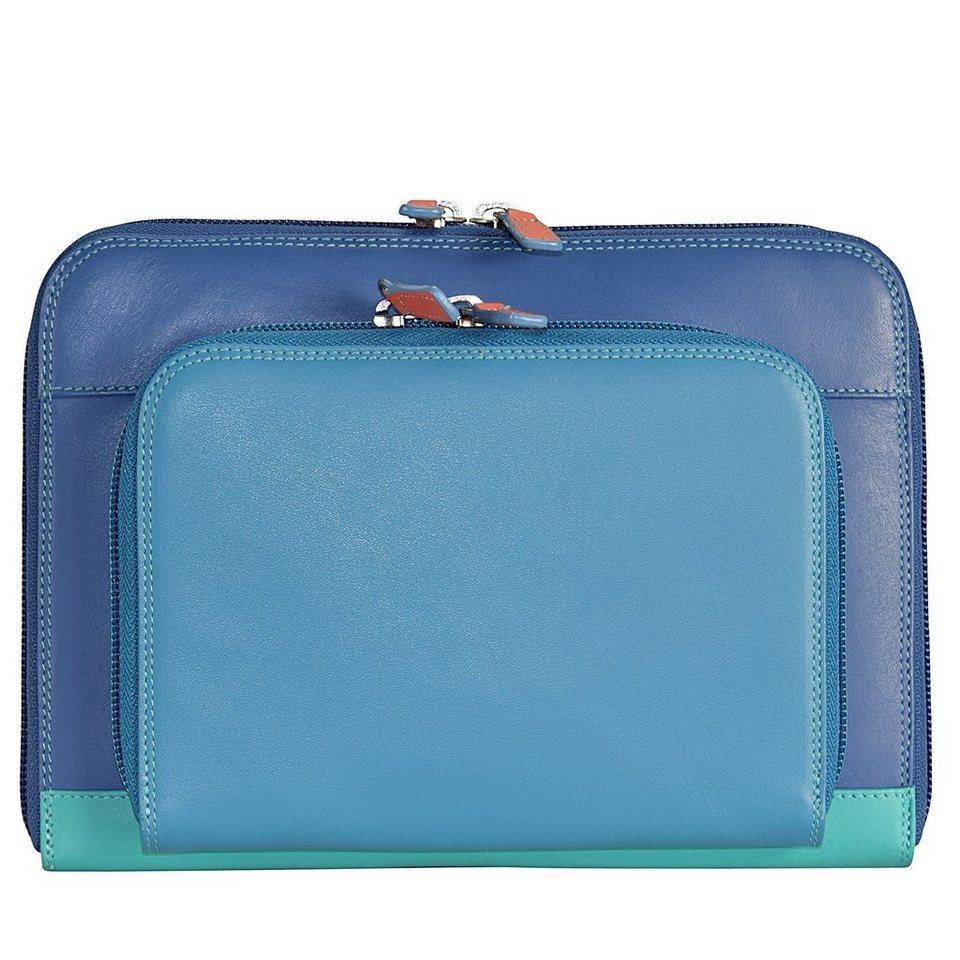 Mywalit Double Zio Across Body Bag Umhängetasche Leder 22 cm in aqua
