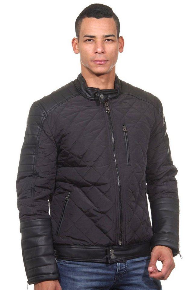 R-NEAL Jacke mit Stehkragen slim fit in schwarz