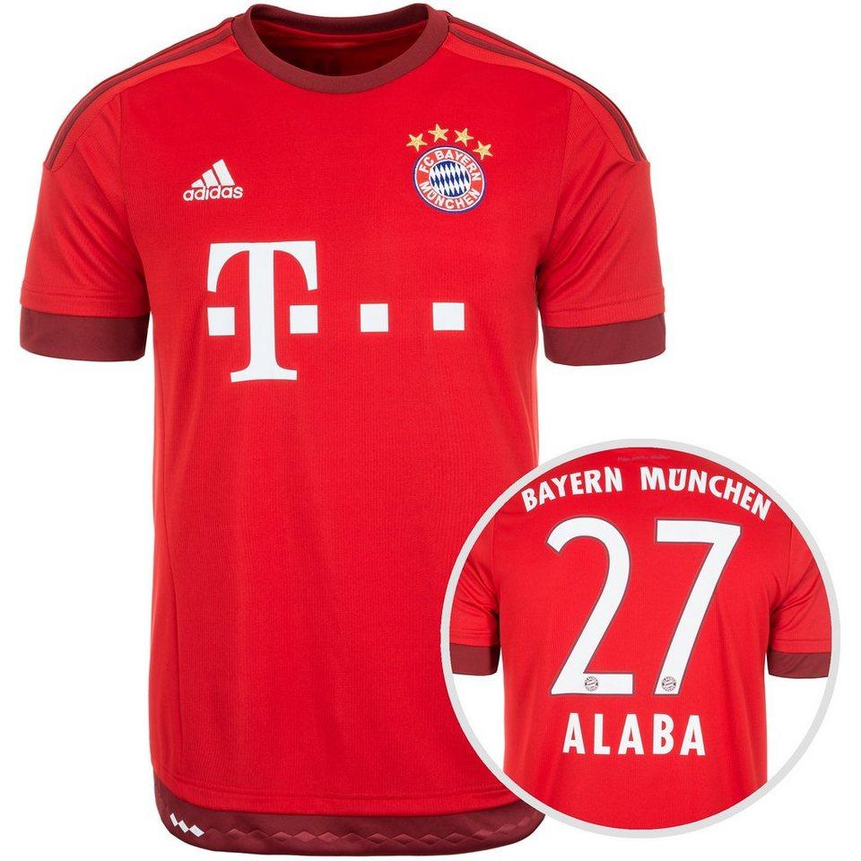 adidas Performance FC Bayern München Trikot Home Alaba 2015/2016 Herren in rot / weiß