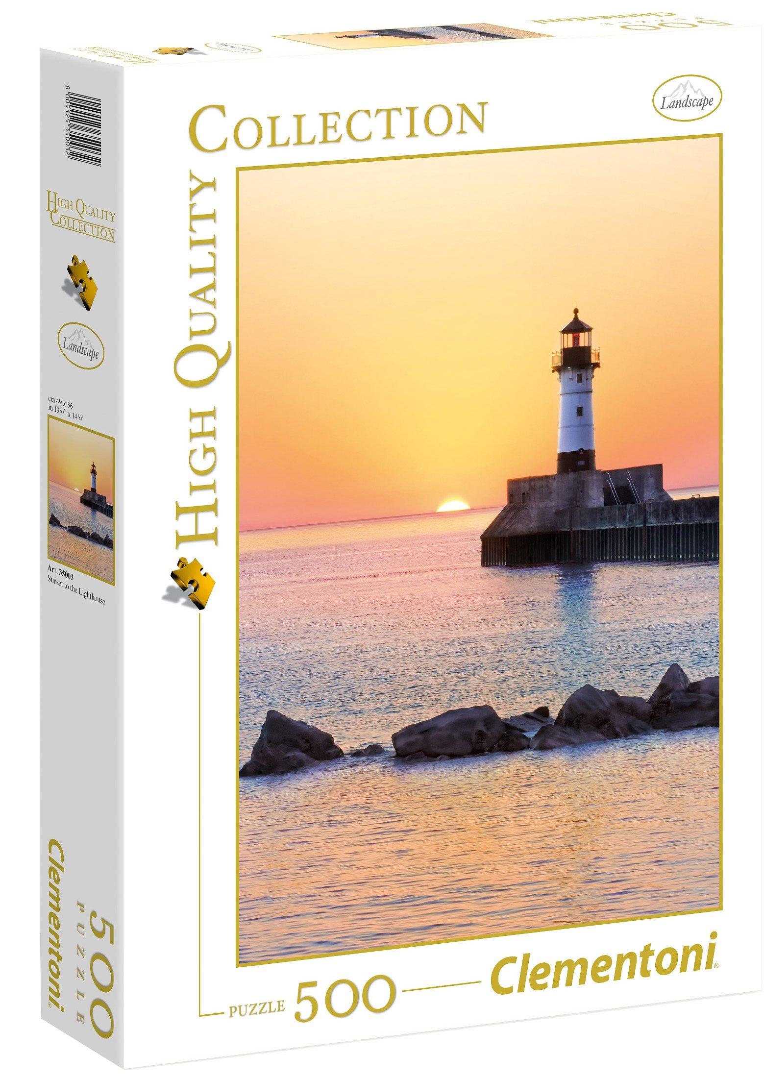 Clementoni Puzzle, 500 Teile, »Sonnenuntergang am Leuchtturm«