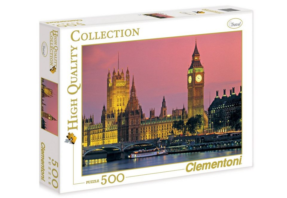 Clementoni Puzzle, 500 Teile, »London Houses of Parliament«