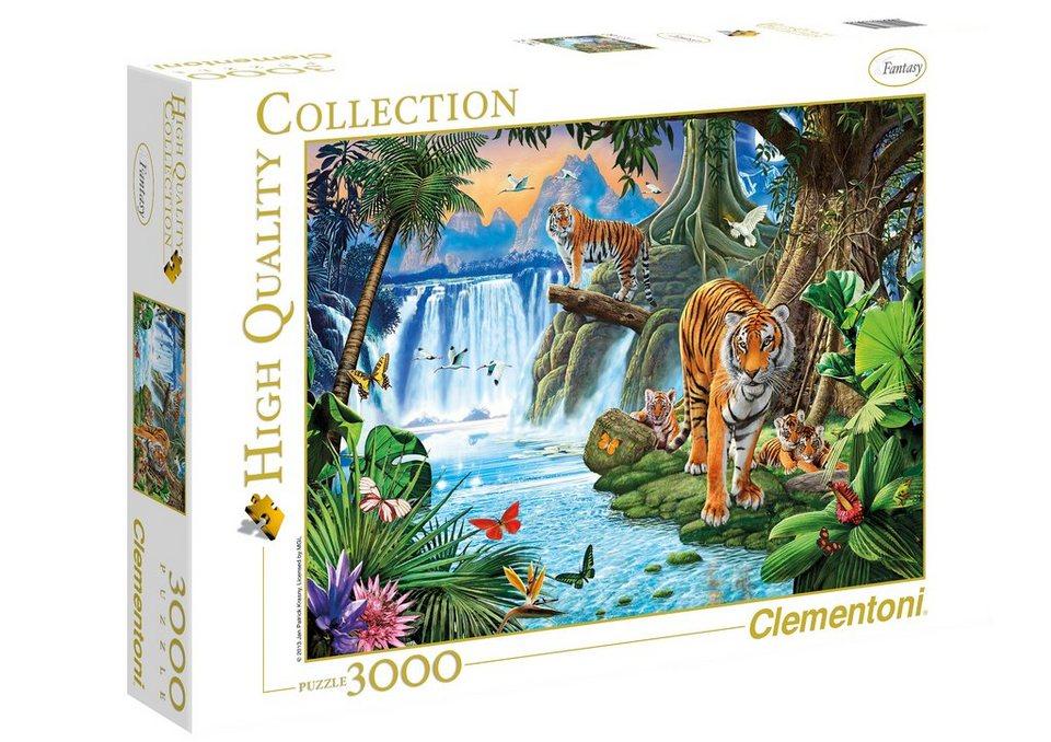 Clementoni Puzzle, 3000 Teile, »Tigerfamilie«