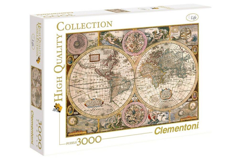 Clementoni Puzzle, 3000 Teile, »Alte Karte«