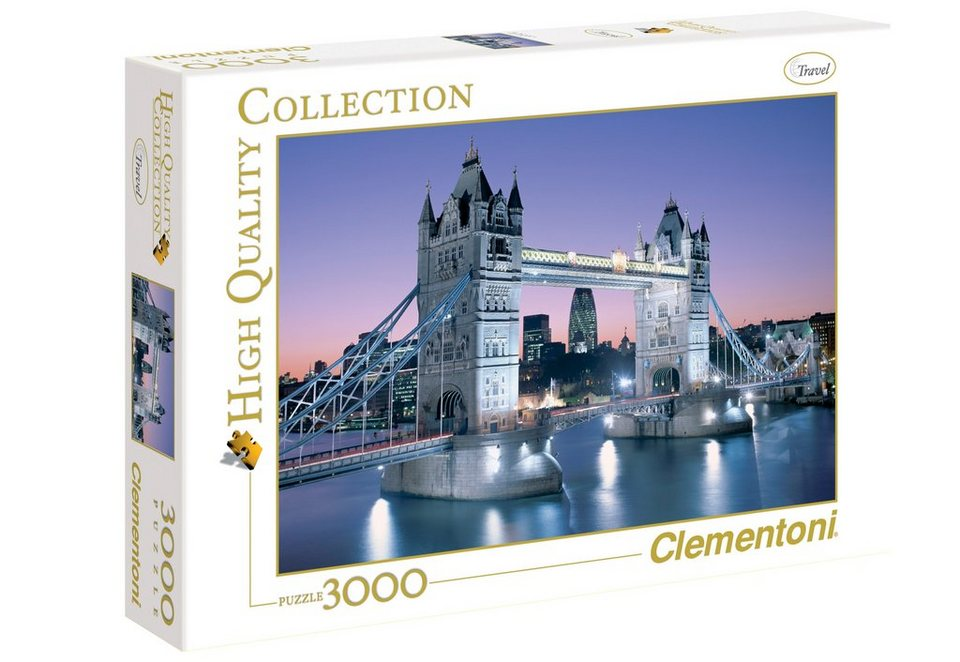 Clementoni Puzzle, 3000 Teile, »Tower Bridge«