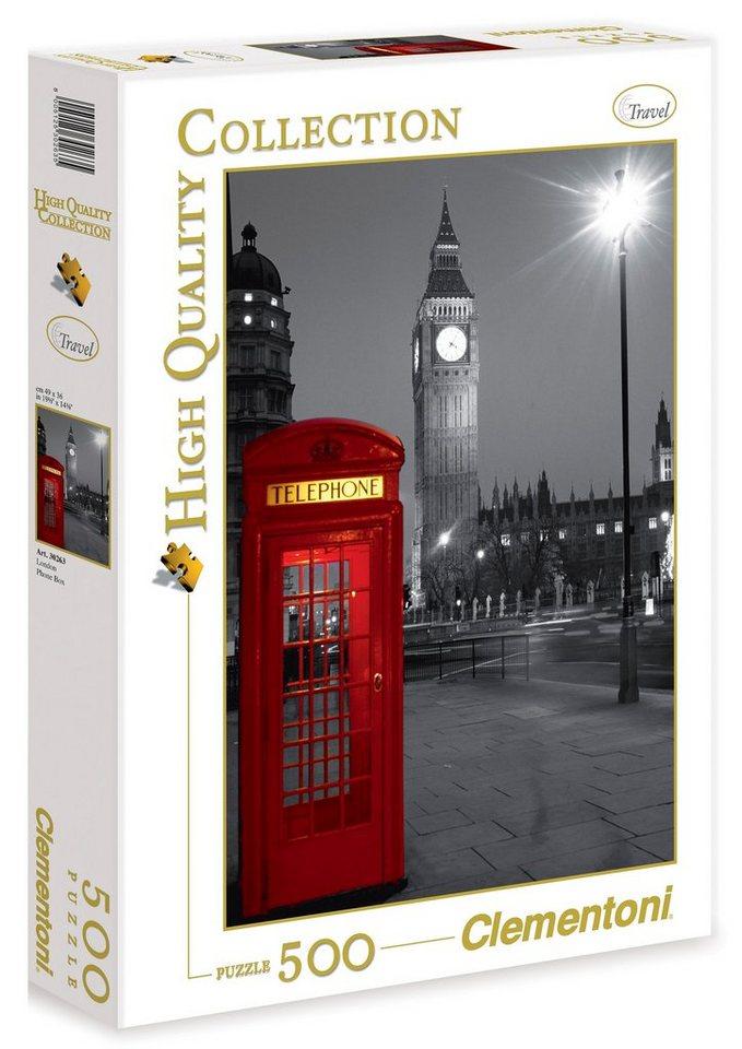 Clementoni Puzzle, 500 Teile, »London Telfonzelle«