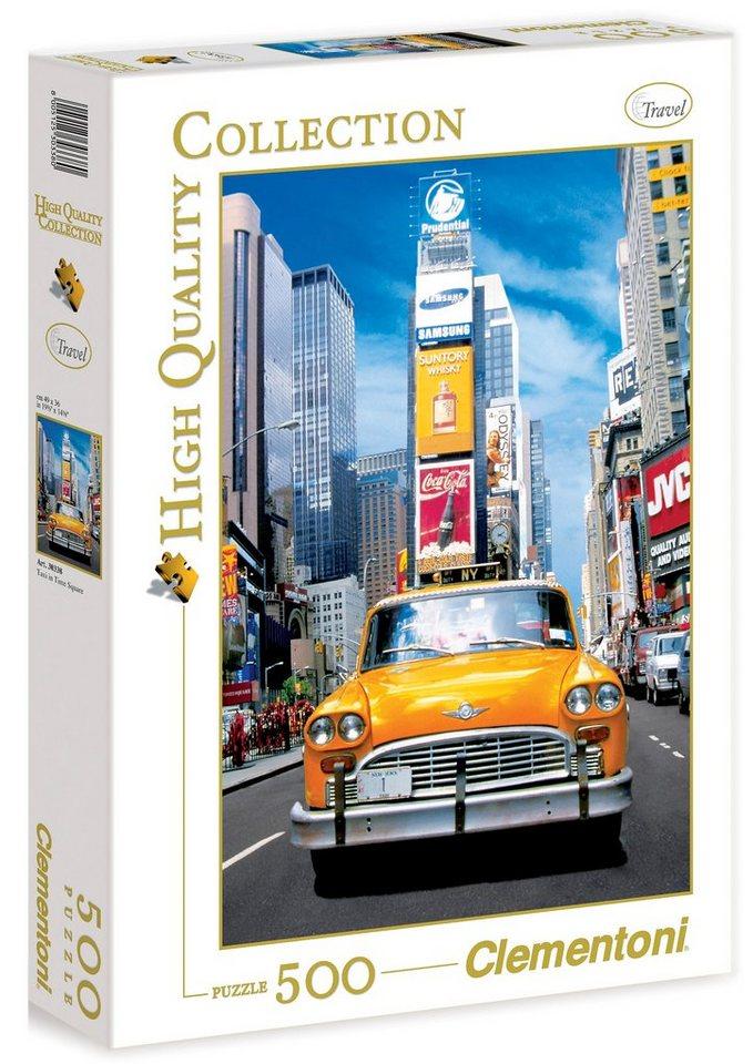 Clementoni Puzzle, 500 Teile, »Taxi am Time Square«