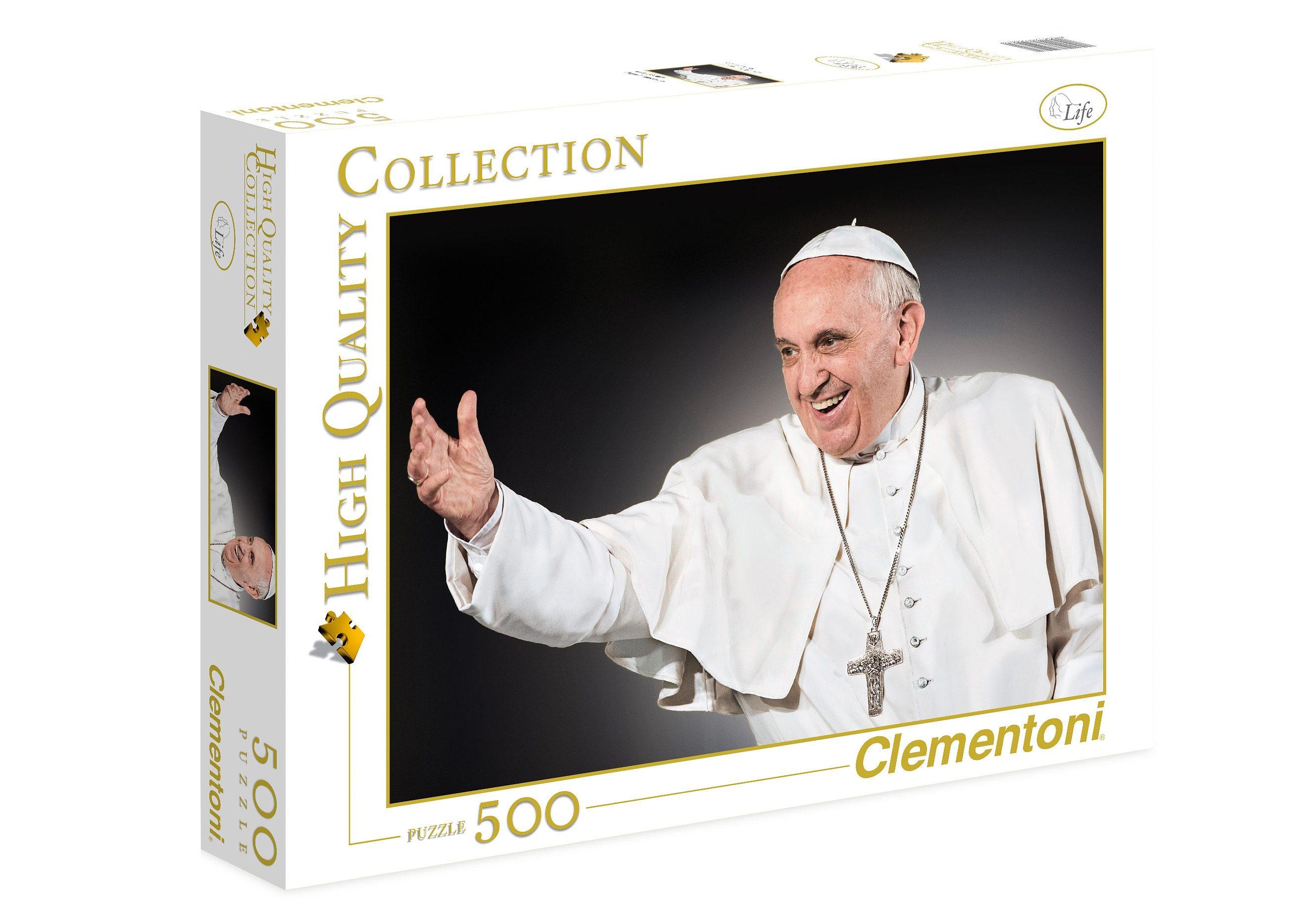 Clementoni Puzzle, 500 Teile, »Papst Franziskus«