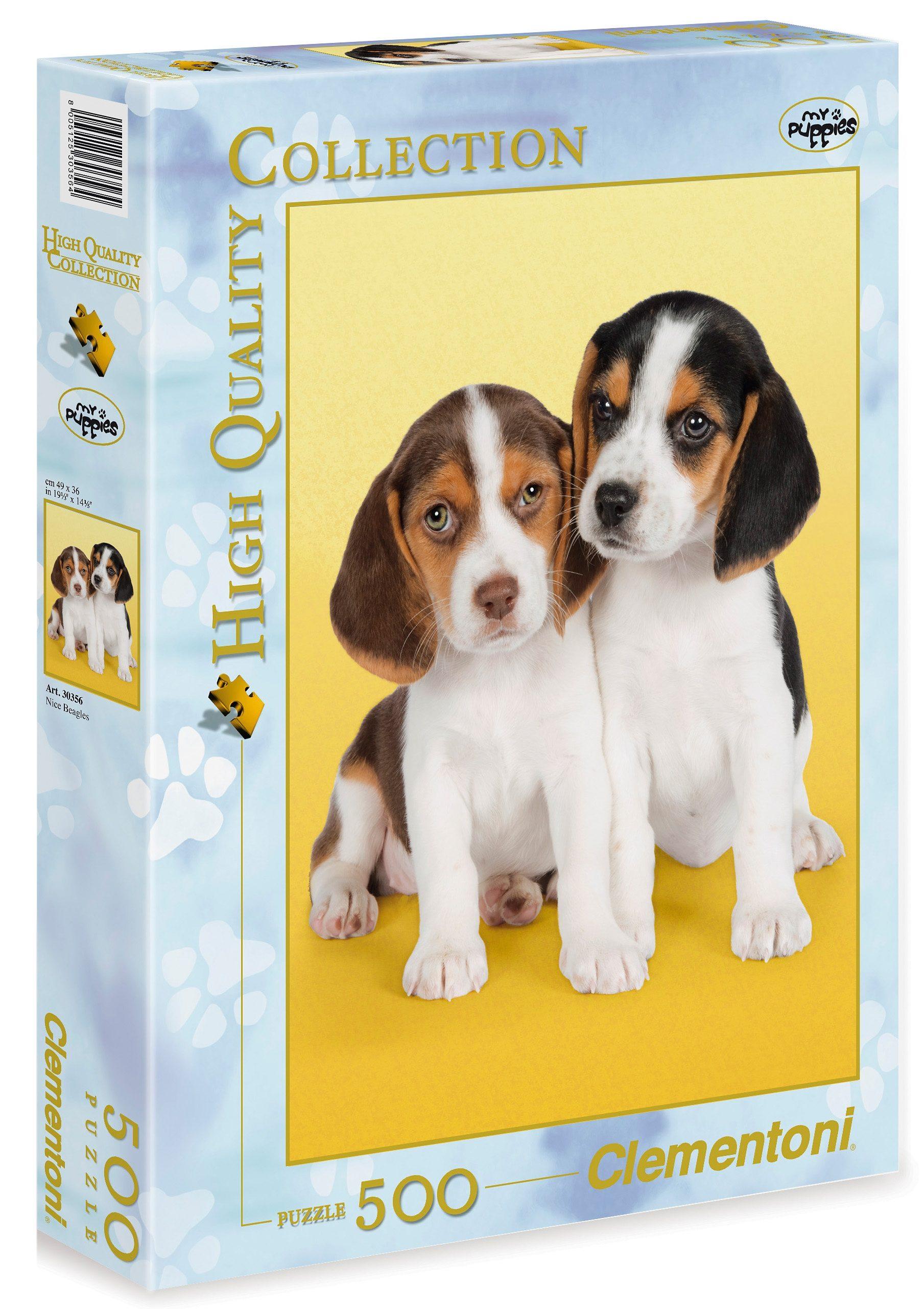 Clementoni Puzzle, 500 Teile, »Nice Beagles«