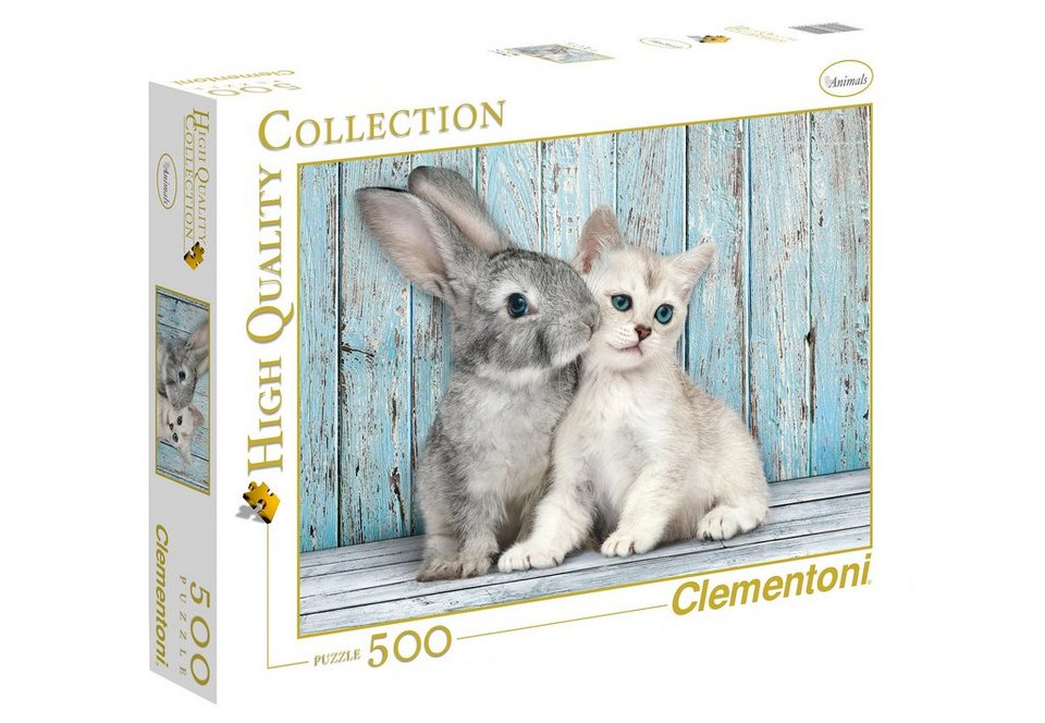 Clementoni Puzzle, 500 Teile, »Katze & Hase«
