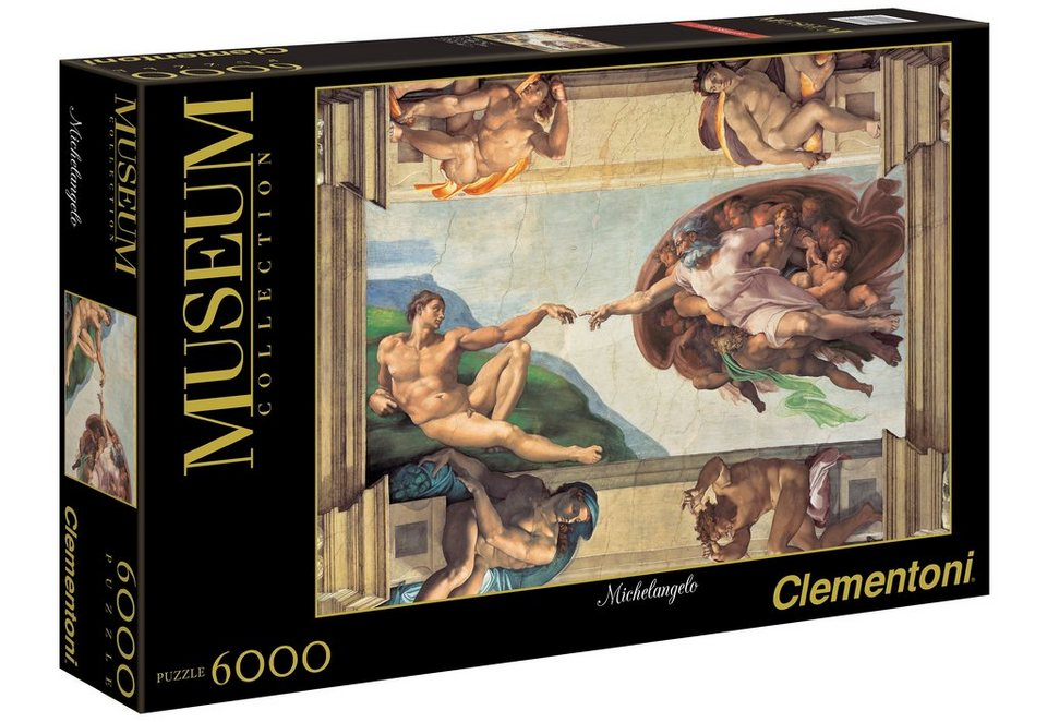 Clementoni Puzzle, 6000 Teile, »Michelangelo, Erschaffung Adams«