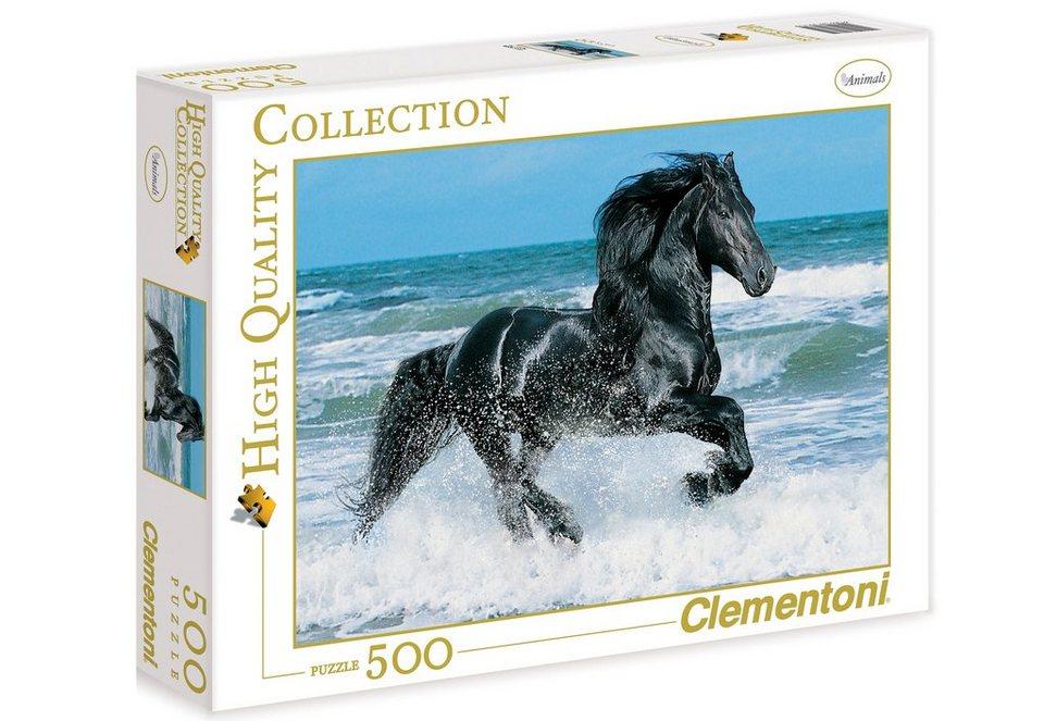 Clementoni Puzzle, 500 Teile, »Schwarzes Pferd«