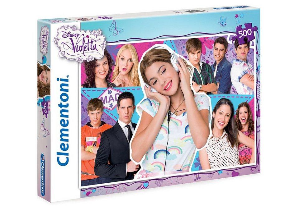 Clementoni Puzzle, 500 Teile, »The Voice - Violetta«