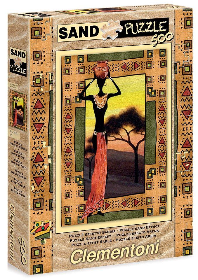 Clementoni Puzzle, 500 Teile, »Etnic - Sand Puzzle«