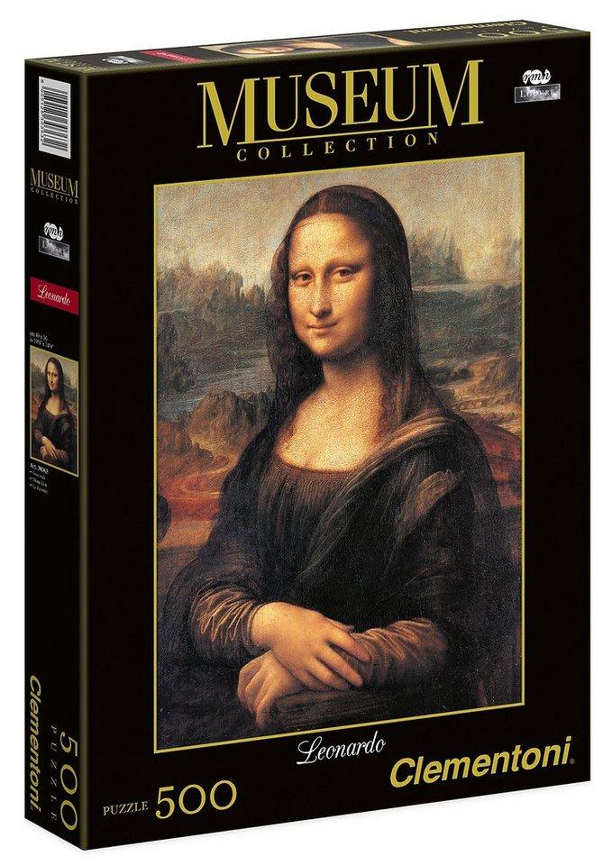 Clementoni Puzzle, 500 Teile, »Leonardo - Mona Lisa«