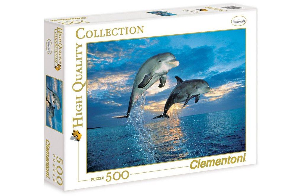 Clementoni Puzzle, 500 Teile, »Delfine«