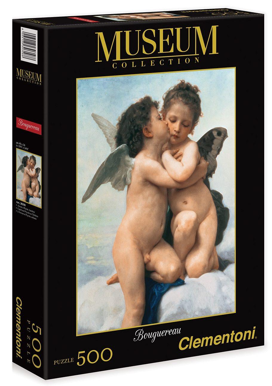 Clementoni Puzzle, 500 Teile, »Bouguereau - Der erste Kuss«