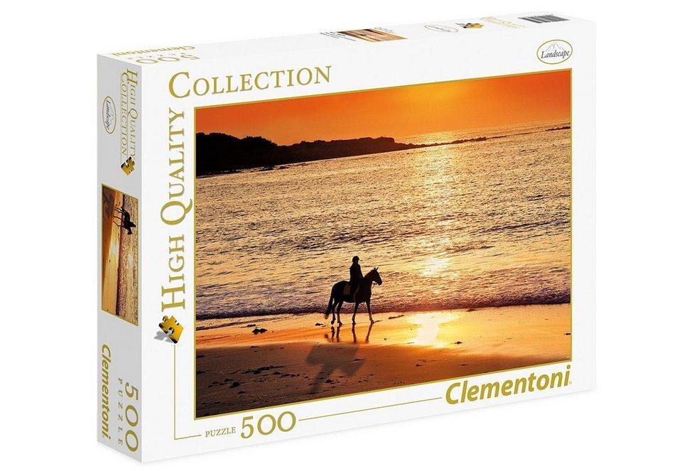 Clementoni Puzzle, 500 Teile, »Ausritt bei Sonnenuntergang«