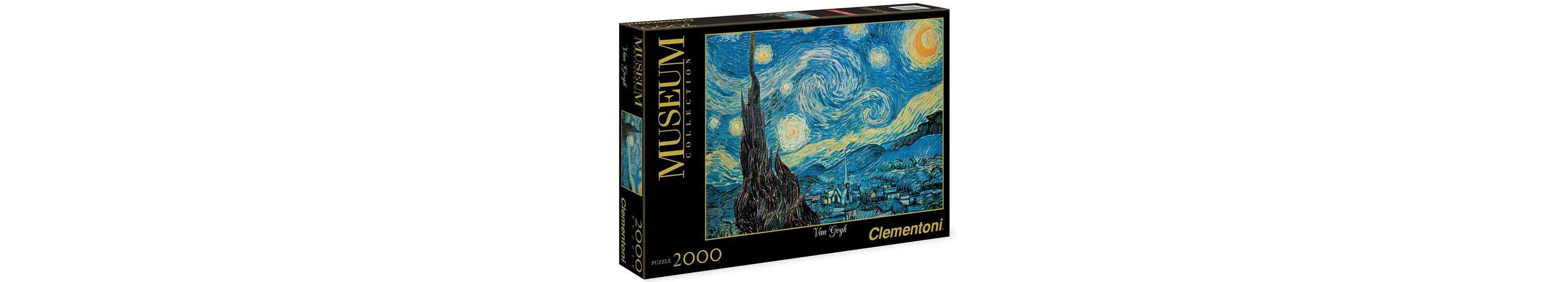 Clementoni Puzzle, 2000 Teile, »Van Gogh - Sternennacht«