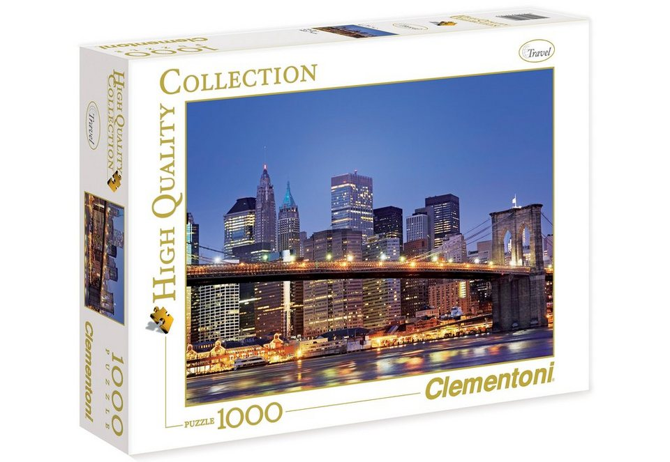 Clementoni Puzzle, 1000 Teile, »New York - Brooklyn Bridge«