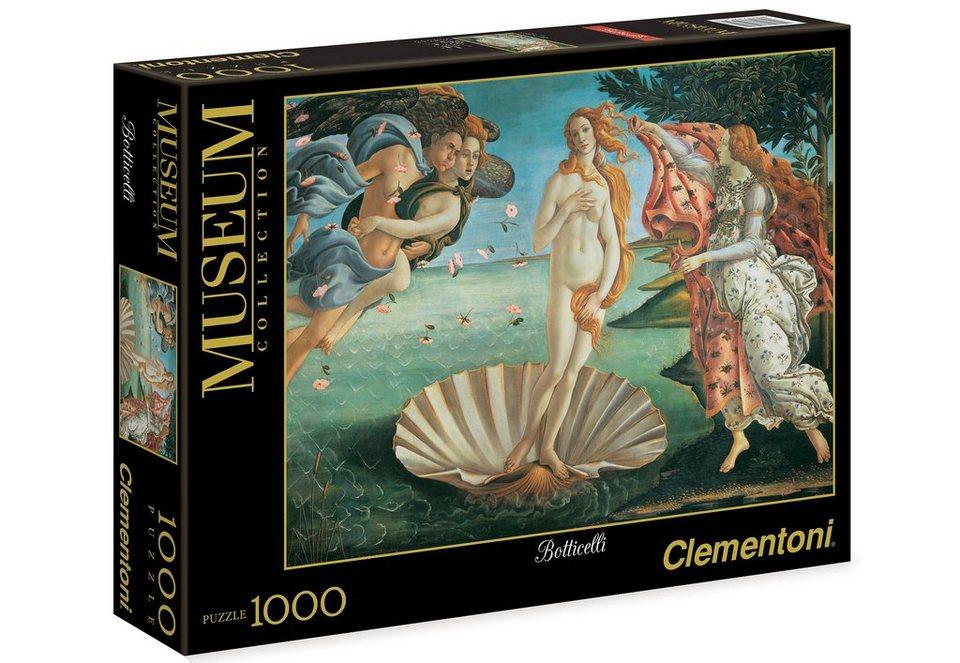 Clementoni Puzzle, 1000 Teile, »Botticelli, Geburt der Venus«