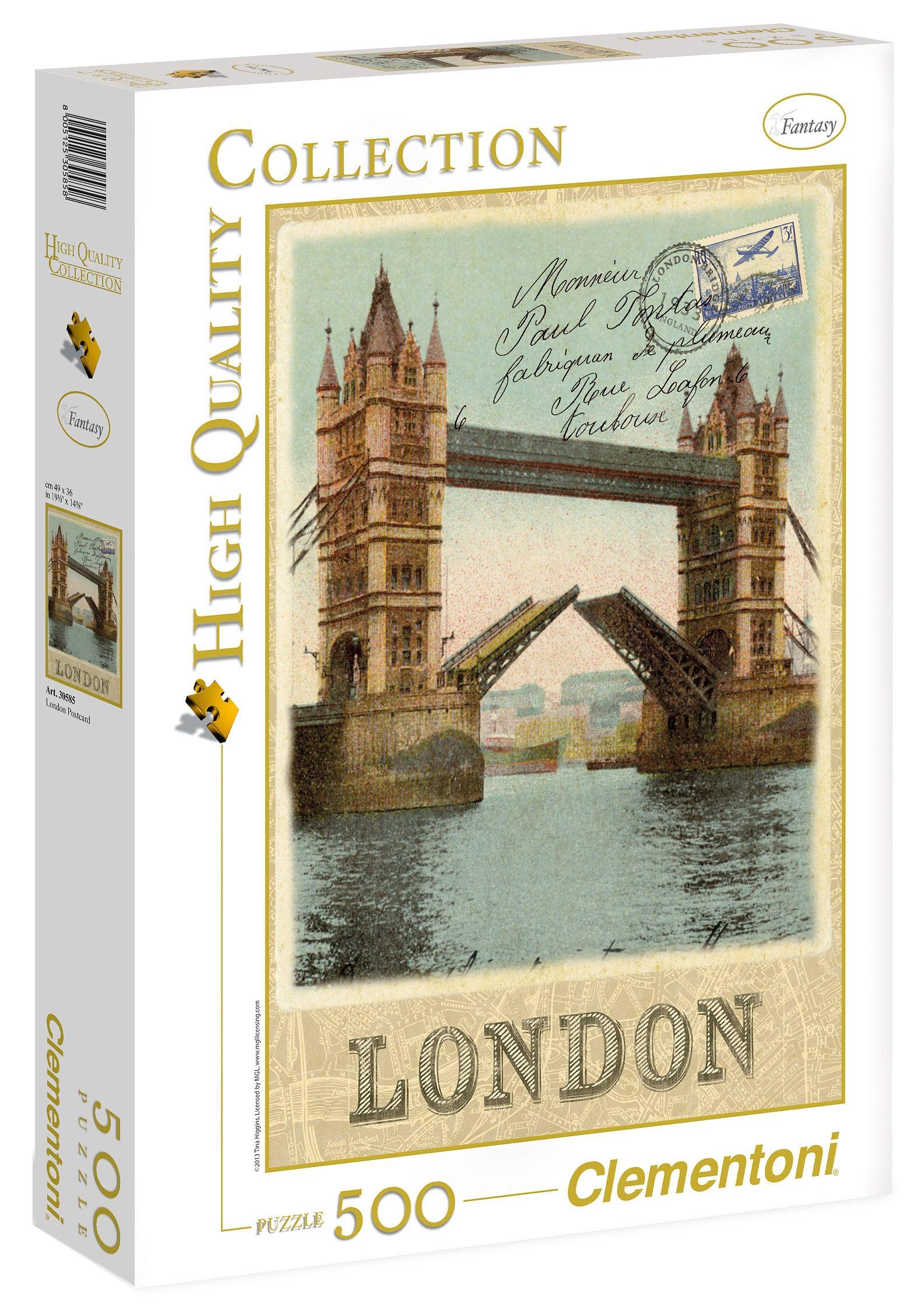 Clementoni Puzzle, 500 Teile, »Londoner Postkarte«