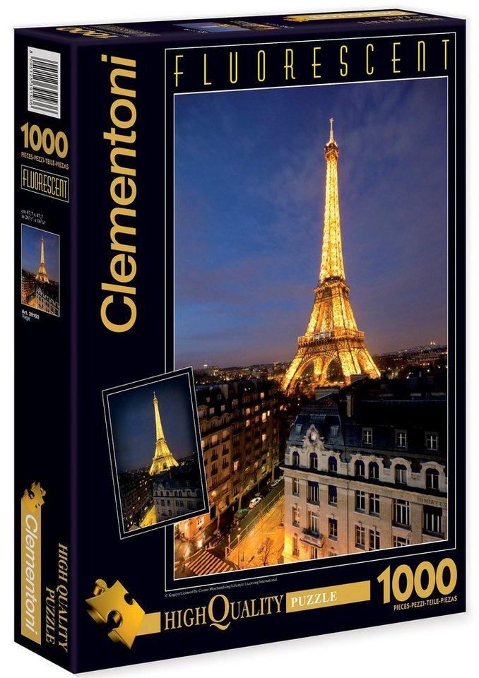 Clementoni Fluoreszierendes Puzzle, 1000 Teile, »Paris«