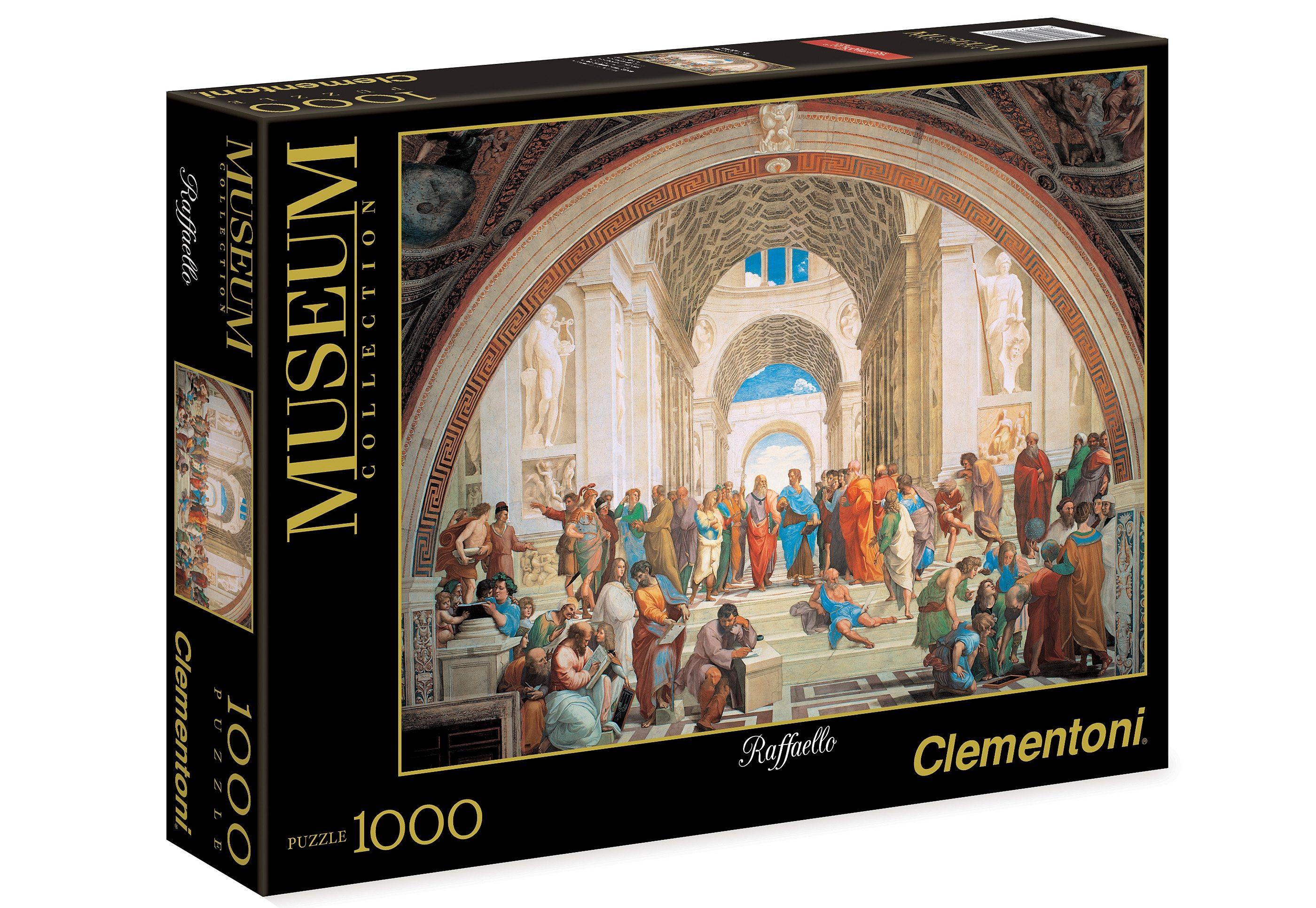 Clementoni Puzzle, 1000 Teile, »Raffaello, Die Schule«