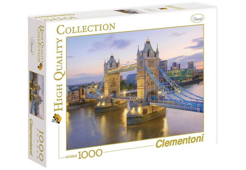 Clementoni Puzzle, 1000 Teile, »Tower Bridge«