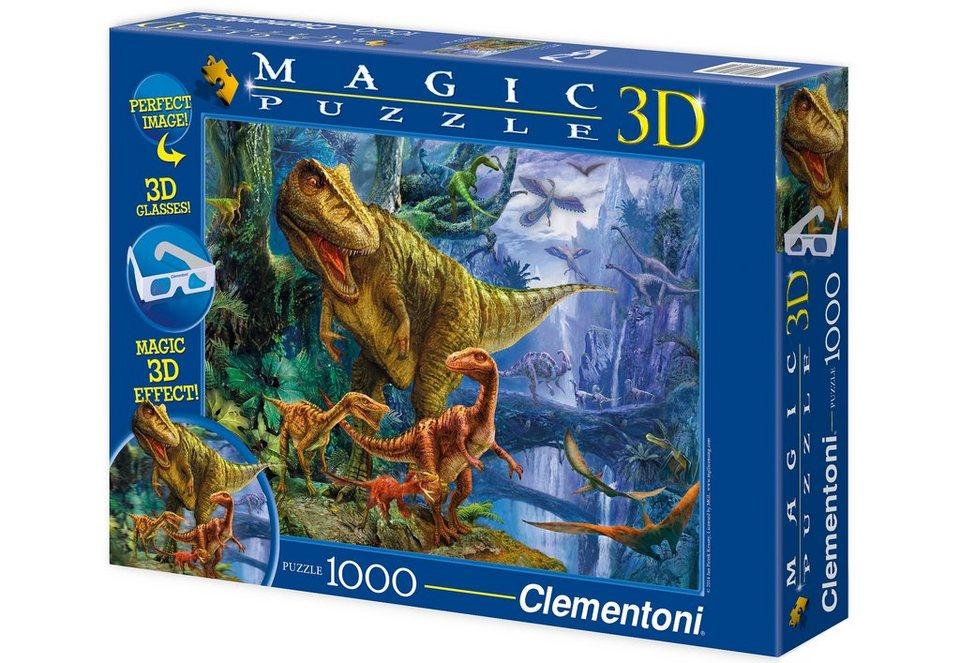 Clementoni 3D Effekt Puzzle, 1000 Teile, »Dinosaur Valley«