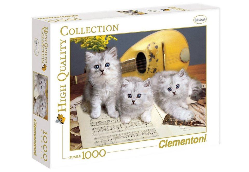 Clementoni Puzzle, 1000 Teile, »Musikalische Katzen«