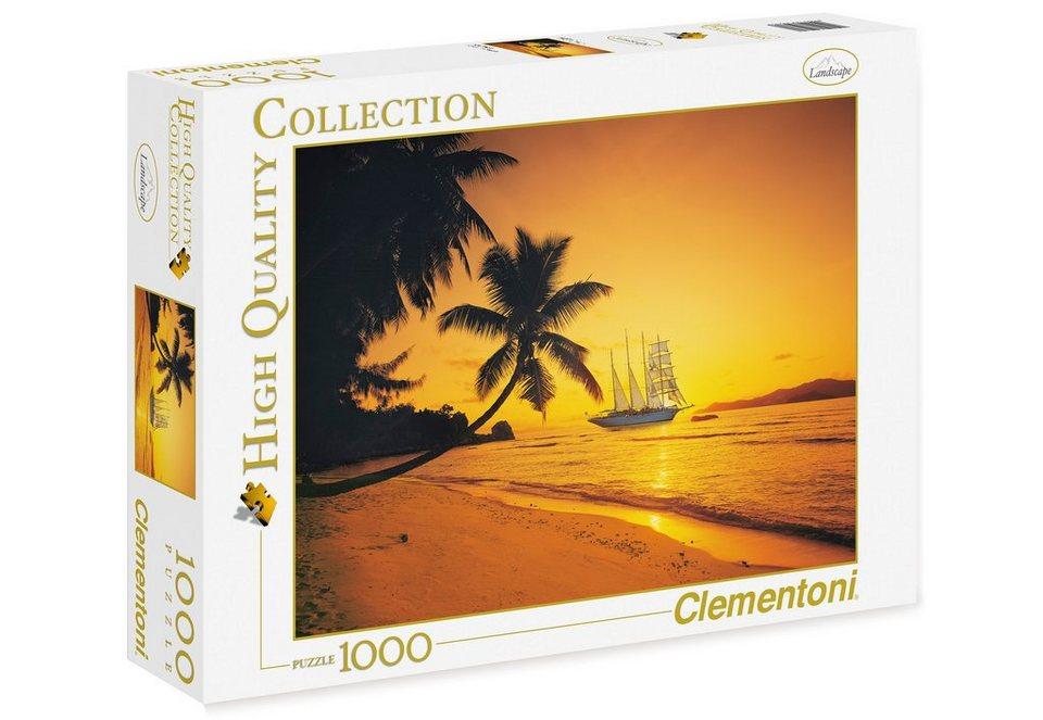 Clementoni Puzzle, 1000 Teile, »Seychellen Sonnenuntergang«
