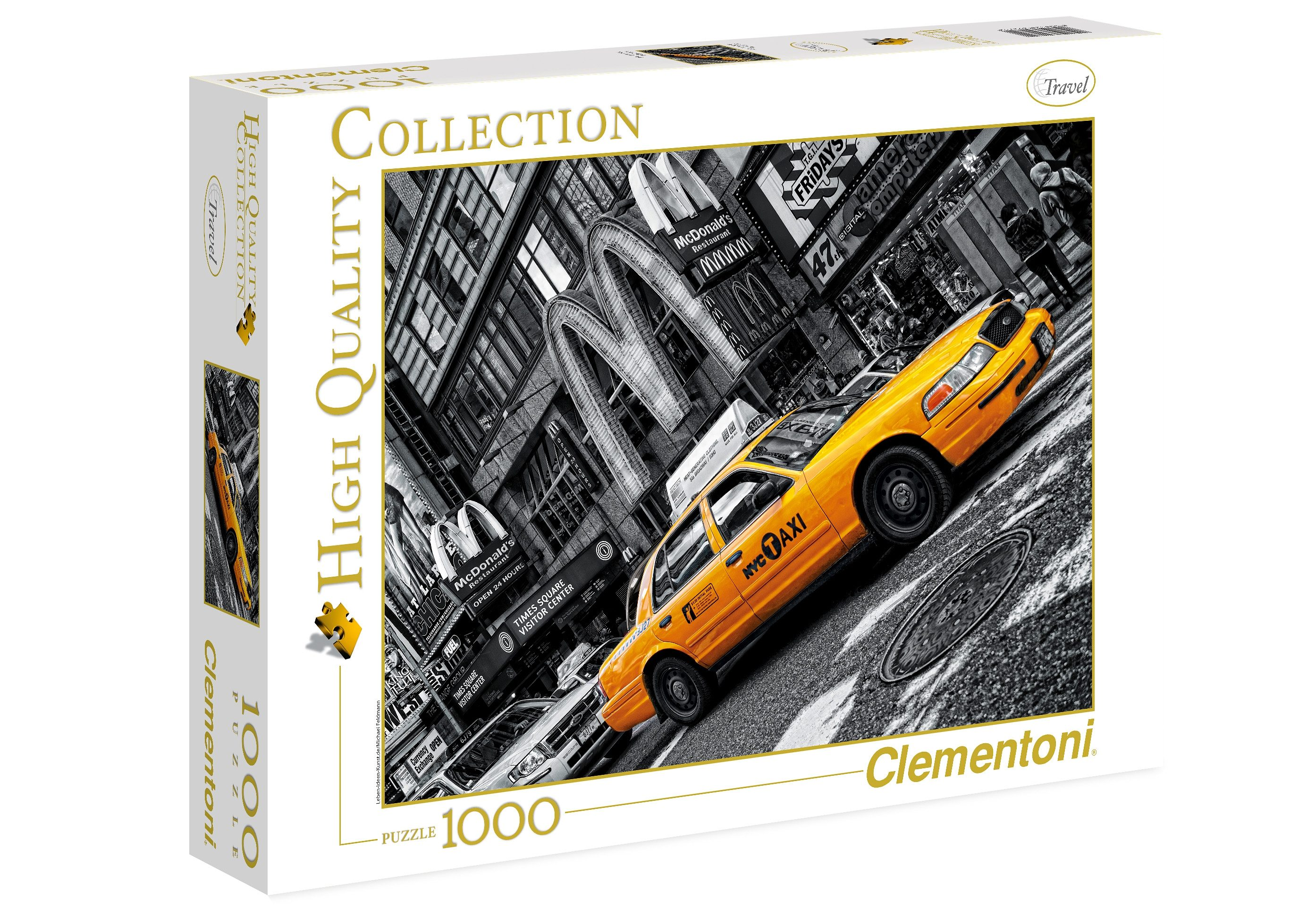 Clementoni Puzzle, 1000 Teile, »NY Taxi«