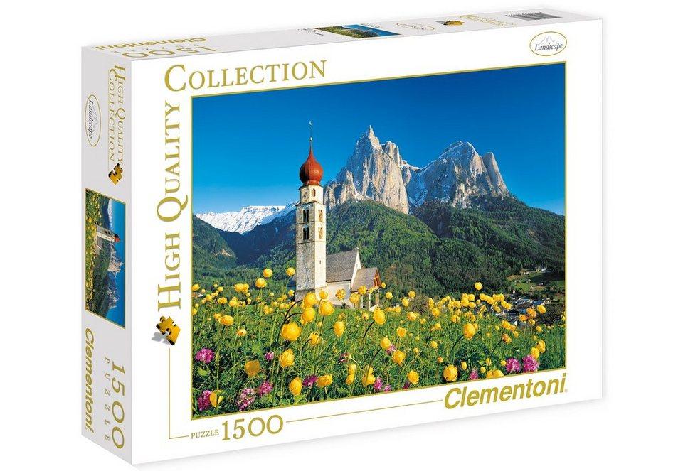 Clementoni Puzzle, 1500 Teile, »Südtirol, Sankt Valentin Kirche«