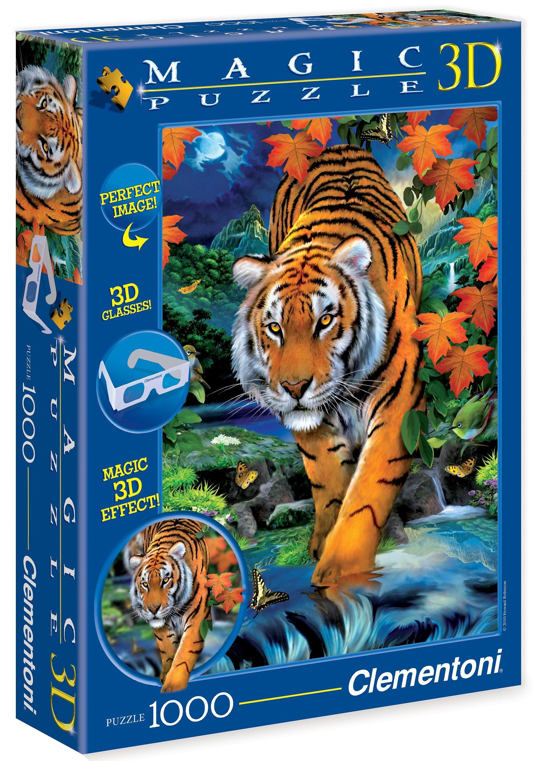 Clementoni 3D Effekt Puzzle, 1000 Teile, »On the prowl«