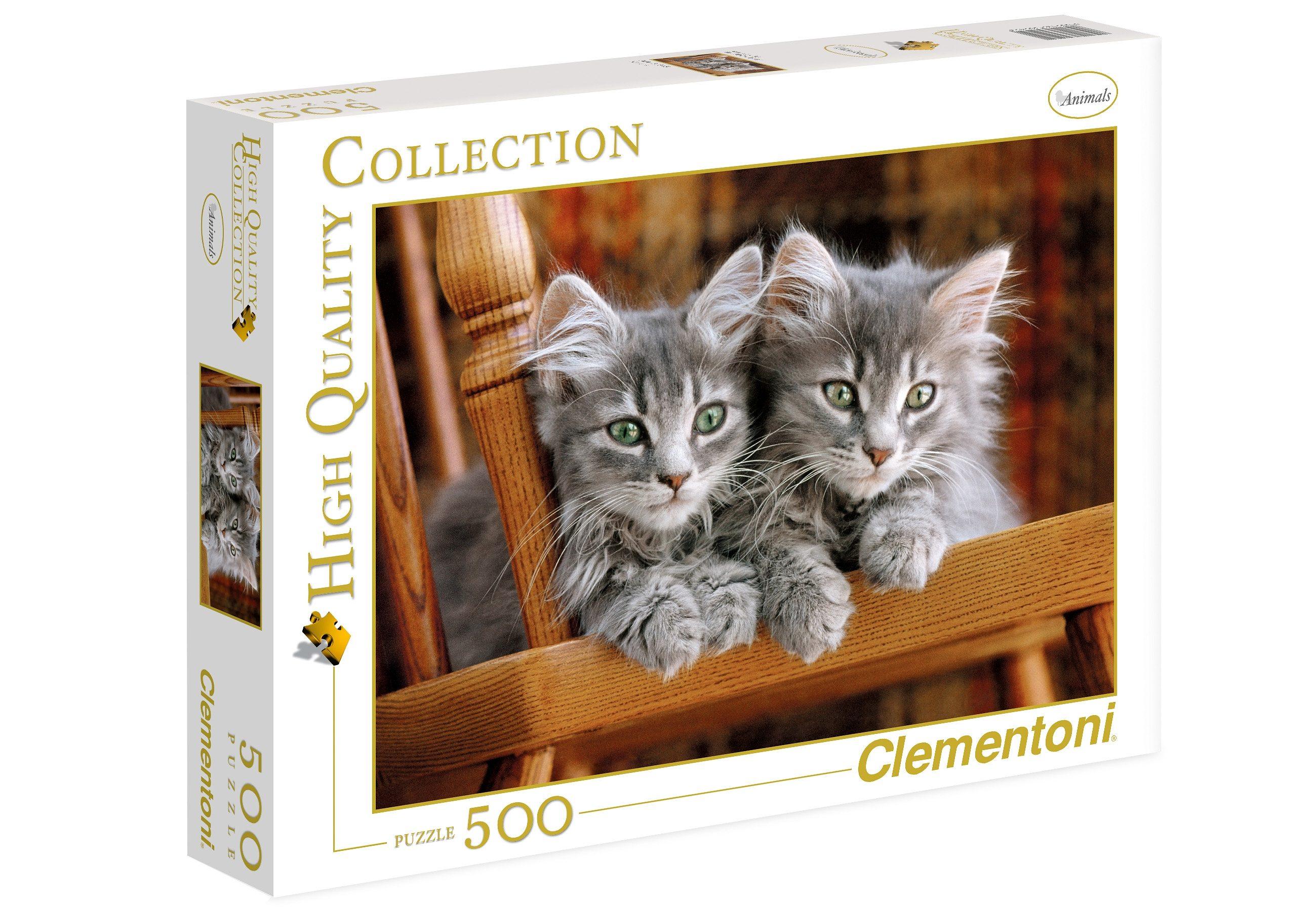 Clementoni Puzzle, 500 Teile, »Kätzchen«