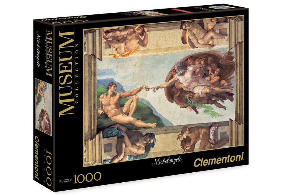 Clementoni Puzzle, 1000 Teile, »Michelangelo, Erschaffung Adams«