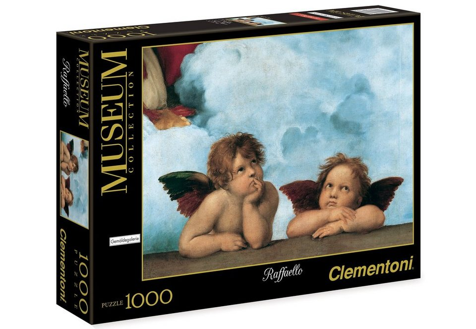Clementoni Puzzle, 1000 Teile, »Raffaello, Sixtinische Madonna«