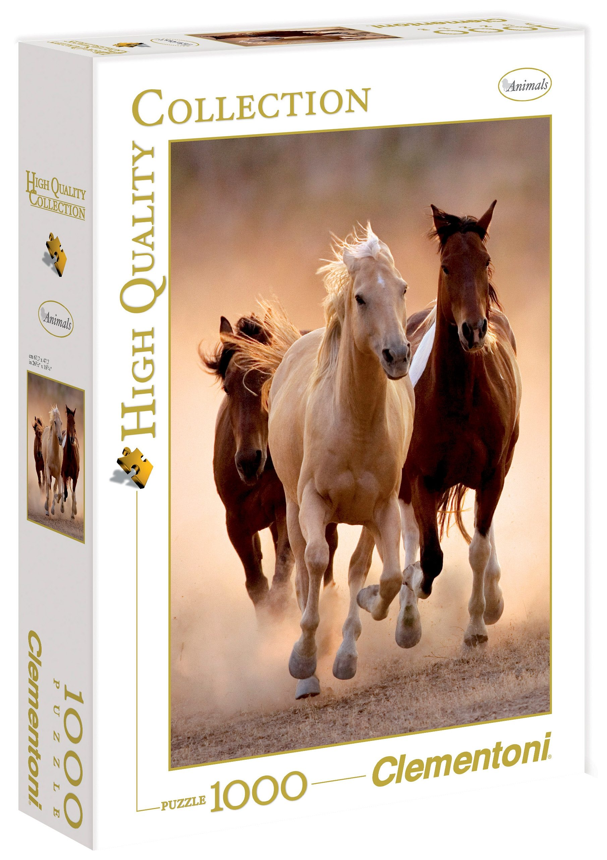 Clementoni Puzzle, 1000 Teile, »Running horses«