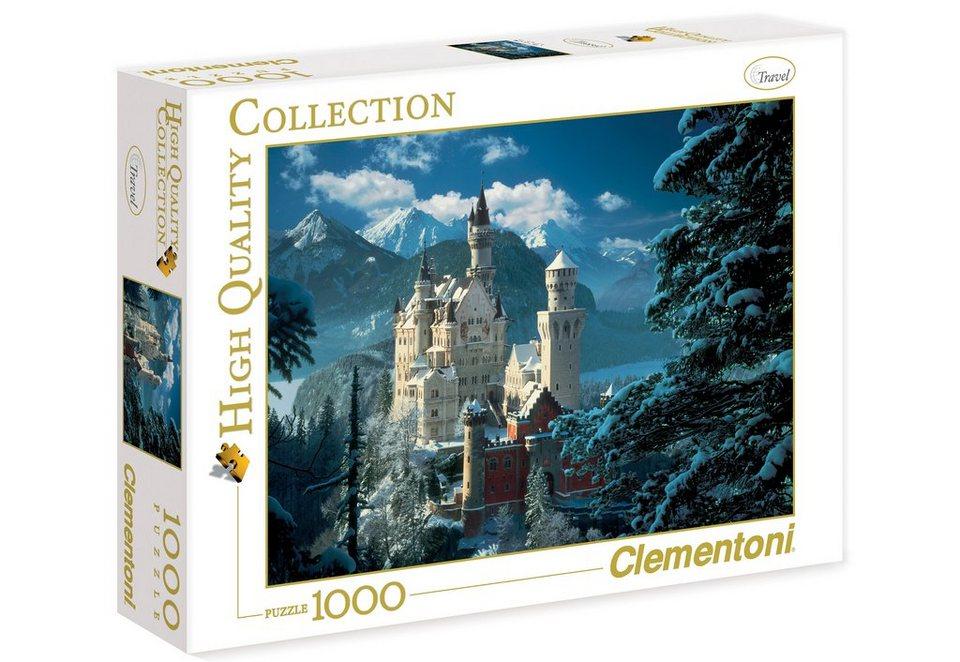 Clementoni Puzzle, 1000 Teile, »Neuschwanstein«
