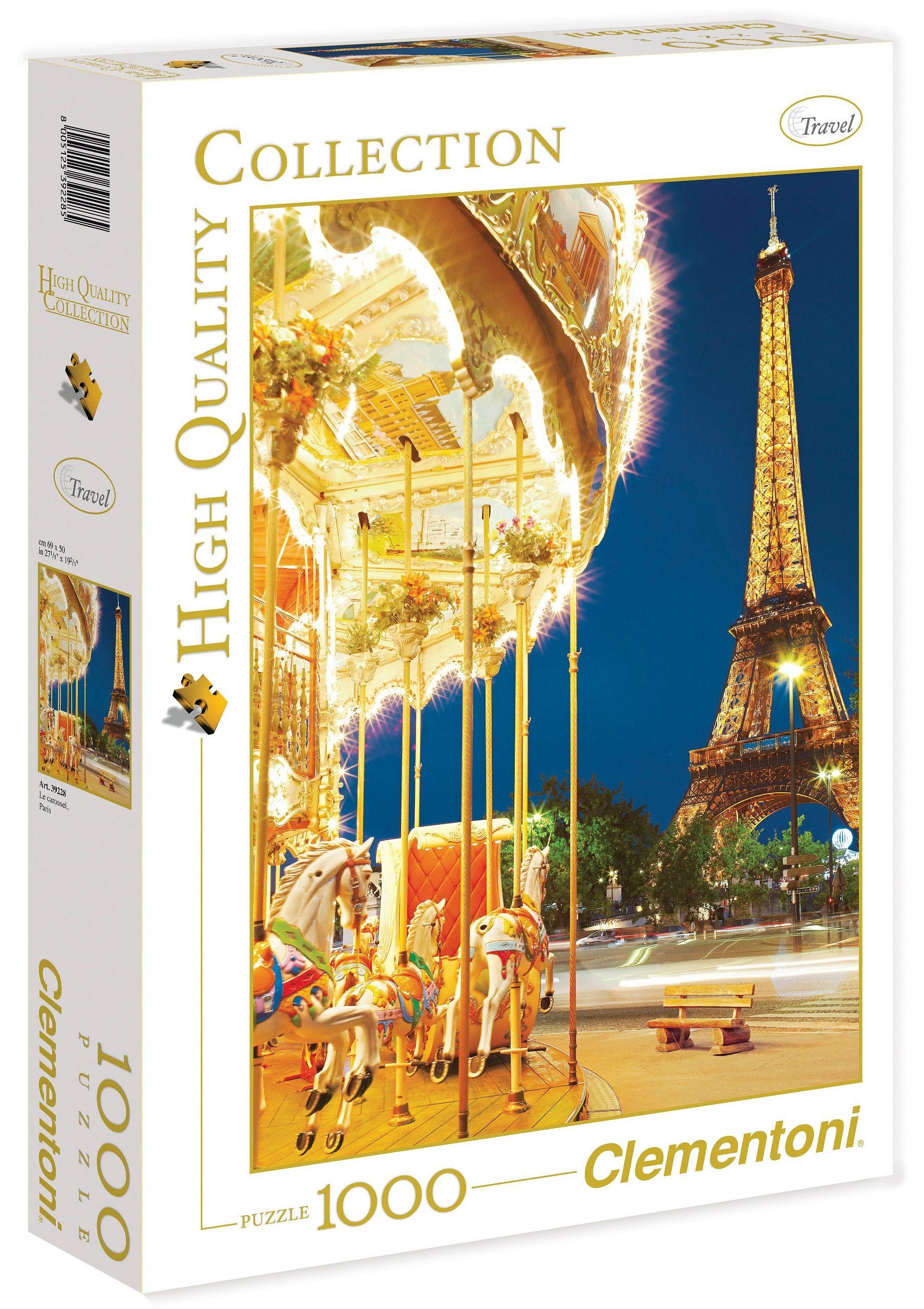 Clementoni Puzzle, 1000 Teile, »Das Karussell, Paris«