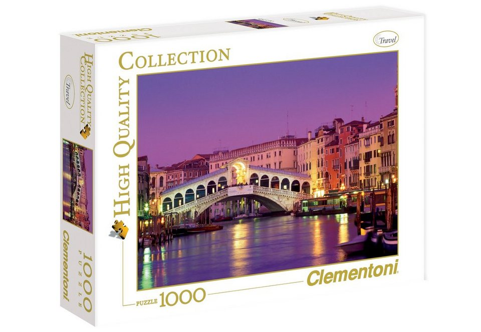 Clementoni Puzzle, 1000 Teile, »Rialto Brücke«