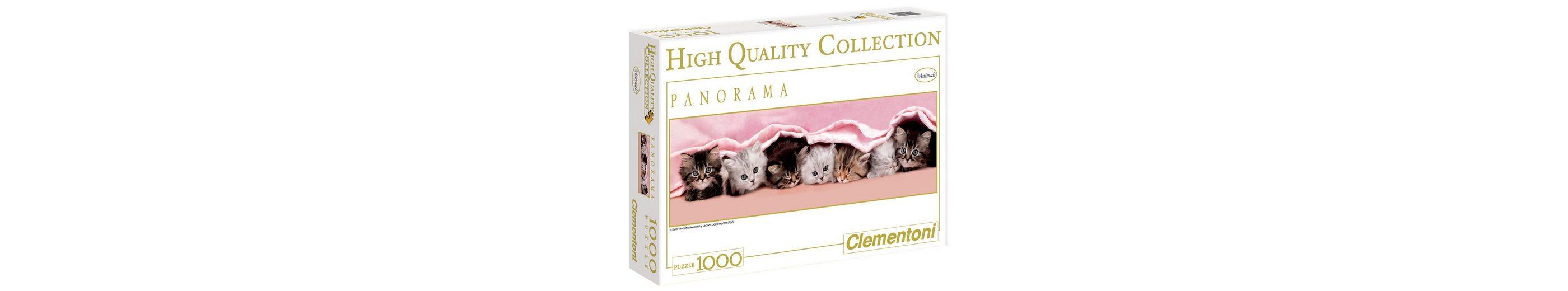 Clementoni Panorama-Puzzle, 1000 Teile, »Kätzchen unter einer Decke«