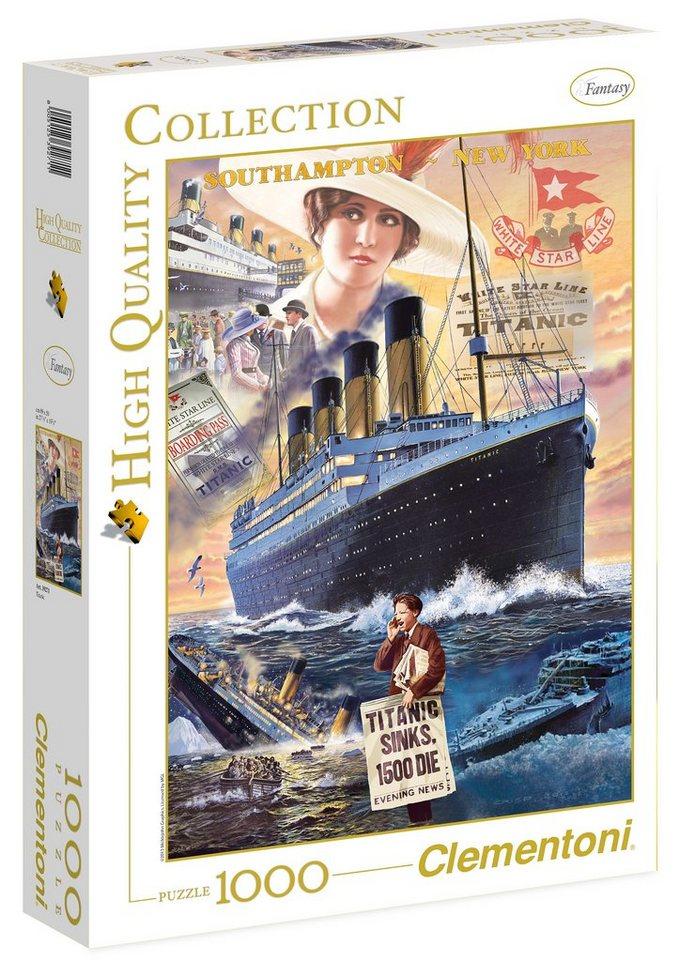 Clementoni Puzzle, 1000 Teile, »Titanic«