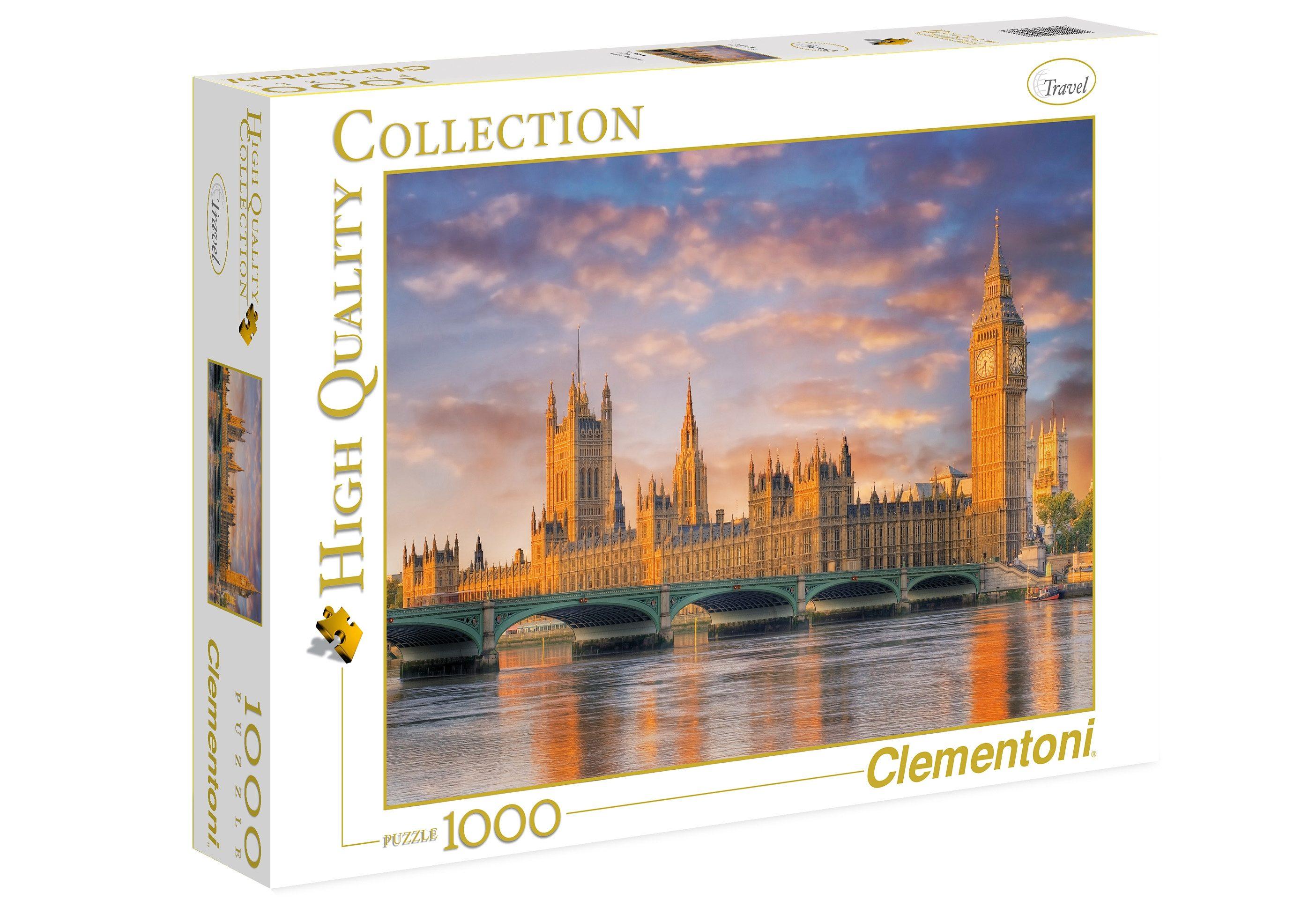 Clementoni Puzzle, 1000 Teile, »London: Houses of Parliament«