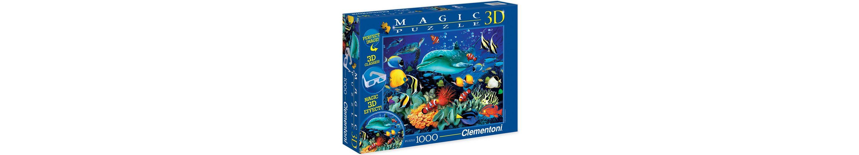 Clementoni 3D Effekt Puzzle, 1000 Teile, »Dolphin Reef«