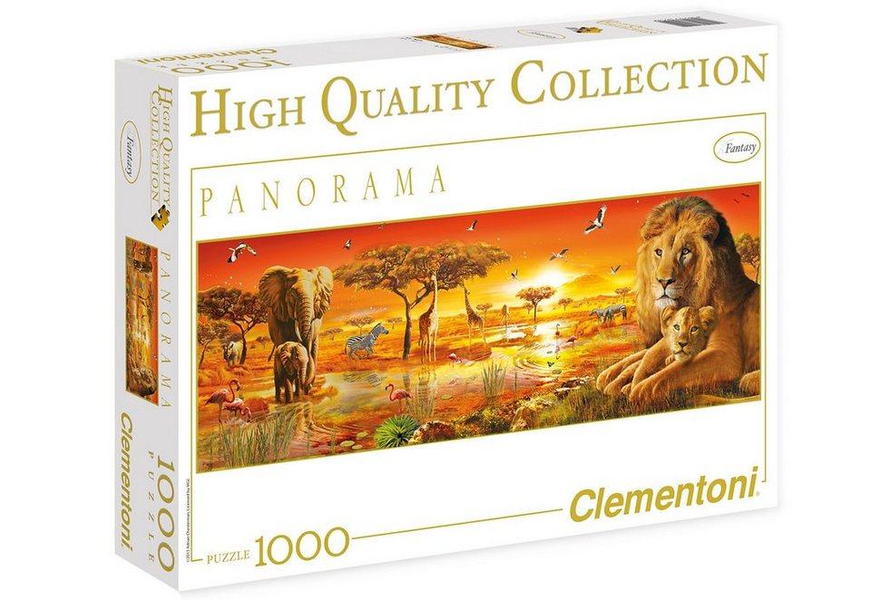 Clementoni Puzzle, 1000 Teile, »Afrikanische Savanne«