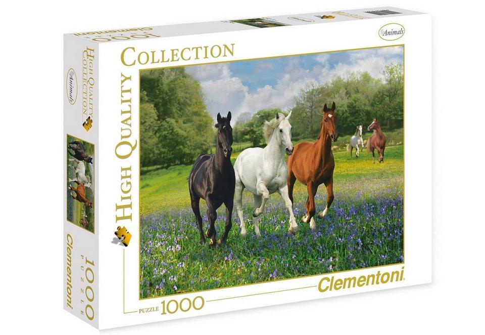 Clementoni Puzzle, 1000 Teile, »Pferde«