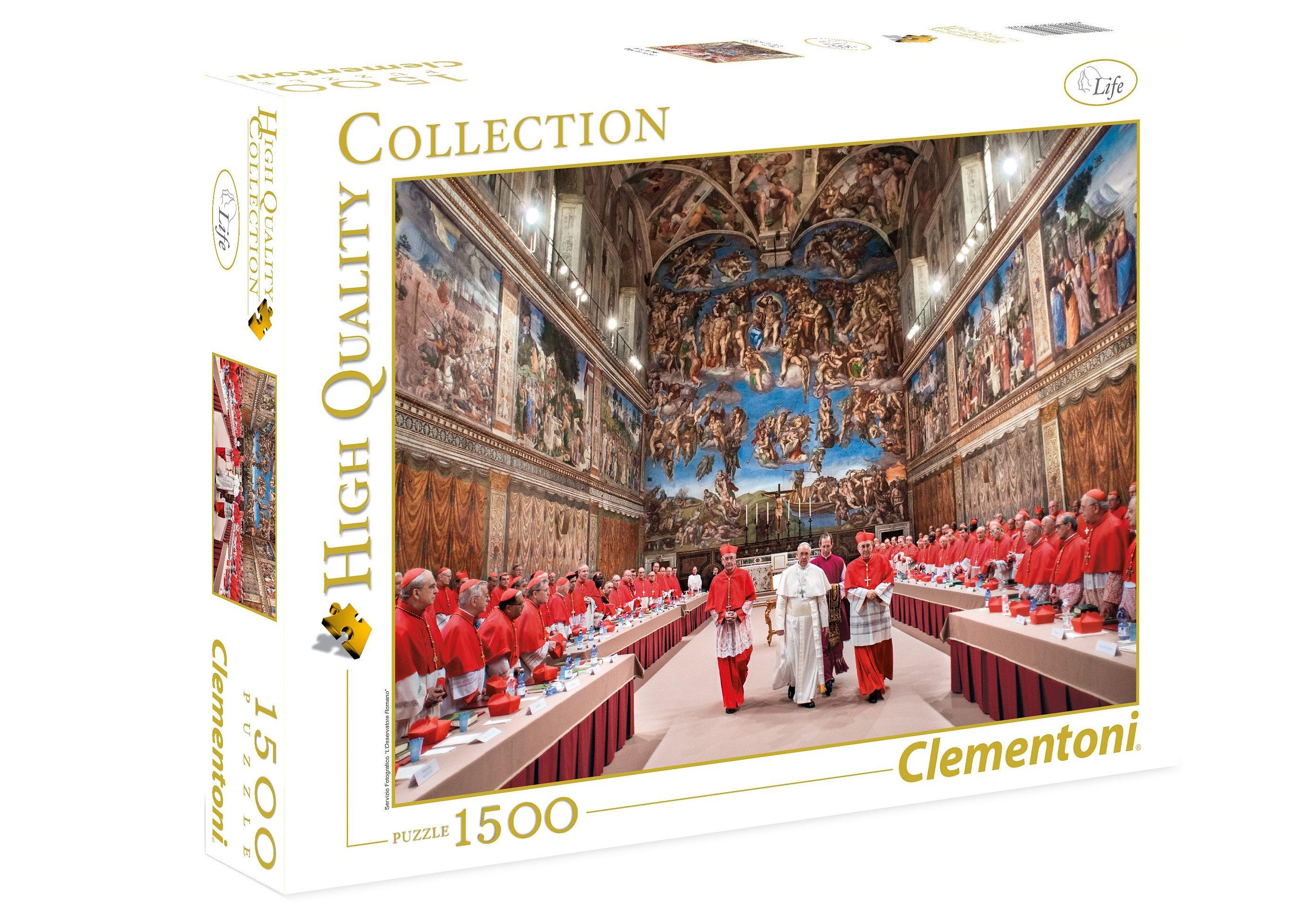 Clementoni Puzzle, 1500 Teile, »Papst Franzikus«
